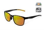 Polarizált napszemüveg Delphin SG BLACK narancssárga lencsével
