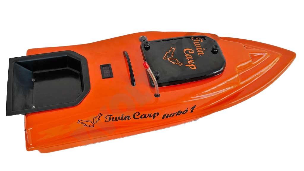 TwinCarp Turbó1 egy tálcás etetőhajó