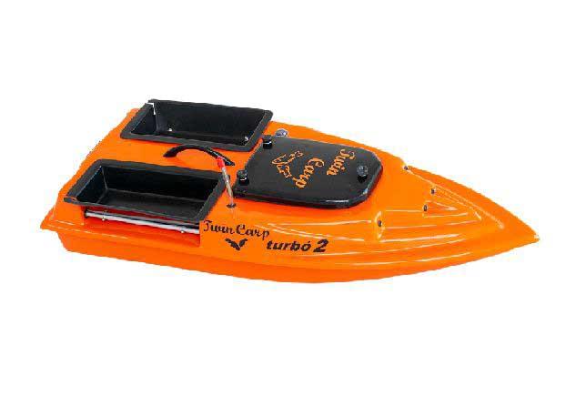 TwinCarp Turbó2 két tálcás etetőhajó táskával